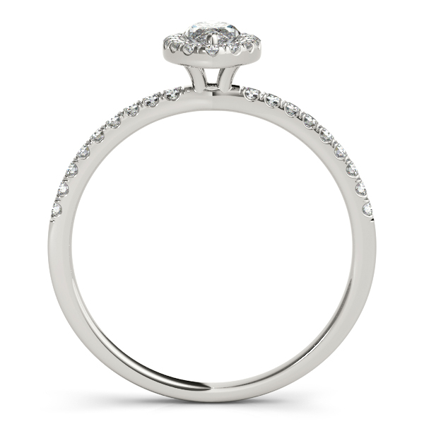 18K White Gold Halo Engagement Ring Image 2 Douglas Diamonds Faribault, MN