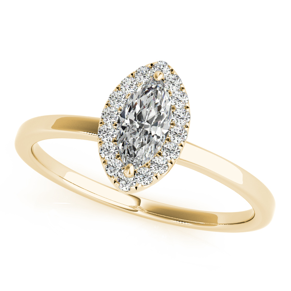 14K Yellow Gold Halo Engagement Ring Douglas Diamonds Faribault, MN