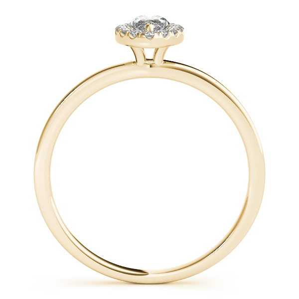 18K Yellow Gold Halo Engagement Ring Image 2 Atlanta West Jewelry Douglasville, GA