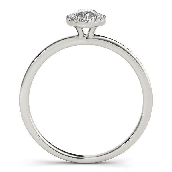 14K White Gold Halo Engagement Ring Image 2 Douglas Diamonds Faribault, MN