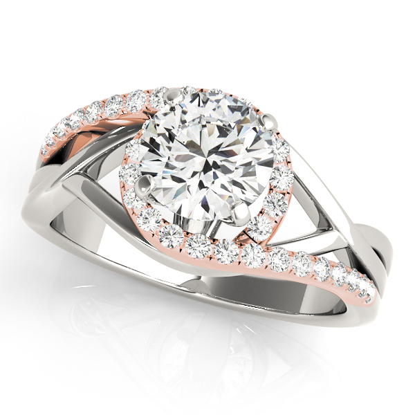 Platinum Bypass-Style Engagement Ring Atlanta West Jewelry Douglasville, GA