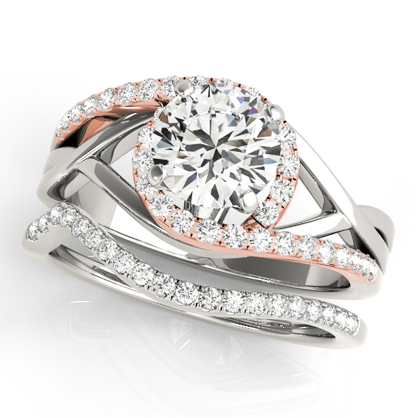 Platinum Bypass-Style Engagement Ring Image 3 Atlanta West Jewelry Douglasville, GA