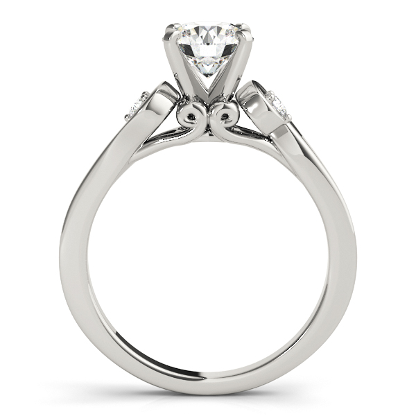 18K White Gold Three-Stone Engagement Ring Image 2  ,