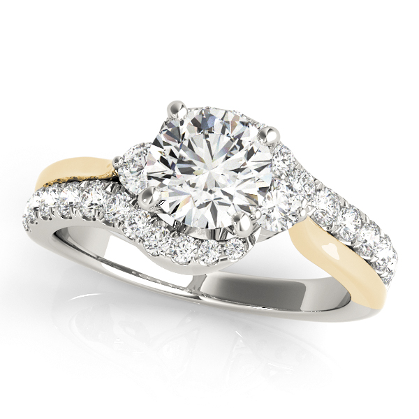 14K White Gold Bypass-Style Engagement Ring Douglas Diamonds Faribault, MN