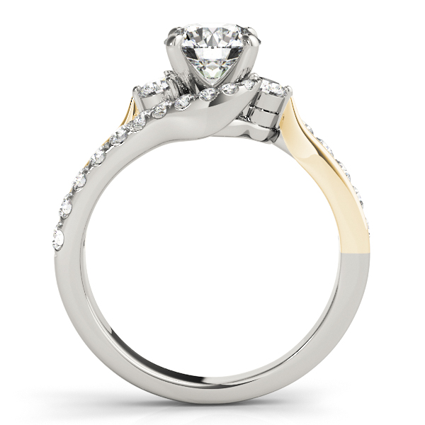 18K White Gold Bypass-Style Engagement Ring Image 2 Atlanta West Jewelry Douglasville, GA