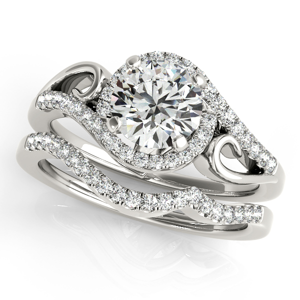 Platinum Round Halo Engagement Ring Image 3 Douglas Diamonds Faribault, MN