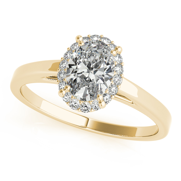 14K Yellow Gold Oval Halo Engagement Ring Douglas Diamonds Faribault, MN