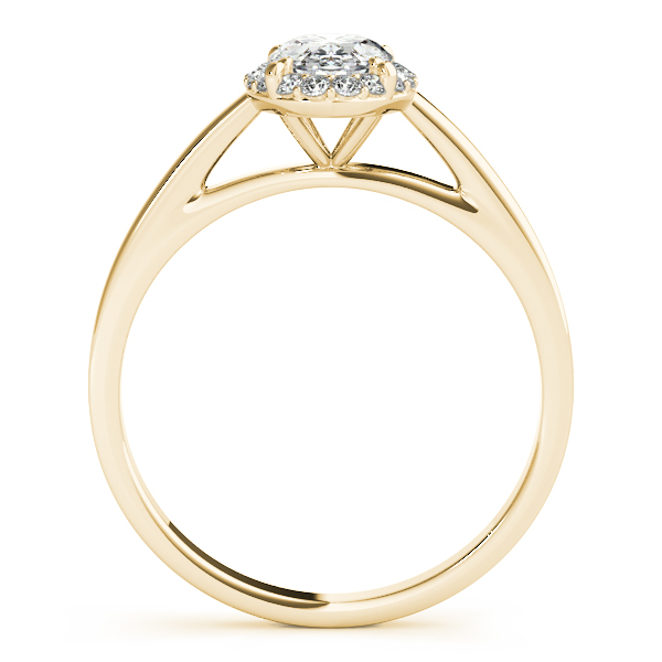 18K Yellow Gold Oval Halo Engagement Ring Image 2  ,