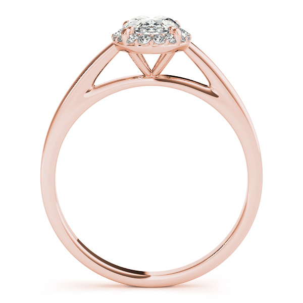 18K Rose Gold Oval Halo Engagement Ring Image 2 Atlanta West Jewelry Douglasville, GA