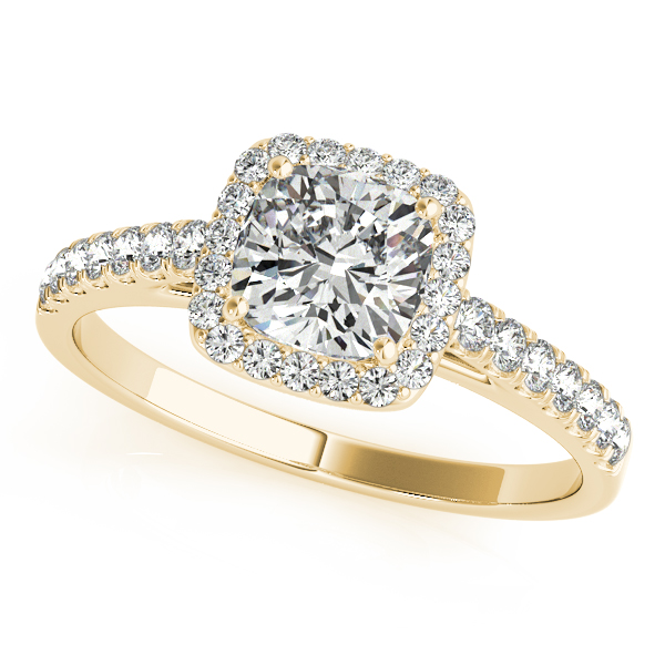 18K Yellow Gold Halo Engagement Ring Douglas Diamonds Faribault, MN