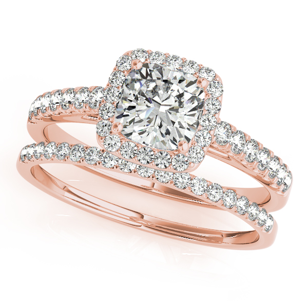 10K Rose Gold Halo Engagement Ring Image 3 Douglas Diamonds Faribault, MN