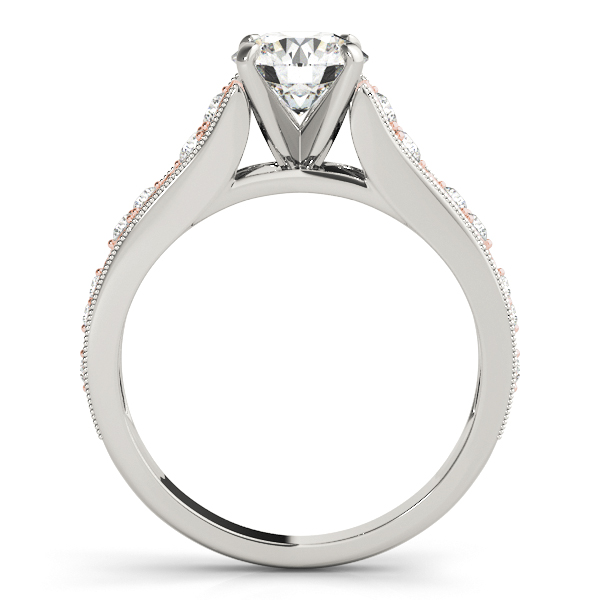 18K White Gold Single Row Prong Engagement Ring Image 2 Atlanta West Jewelry Douglasville, GA