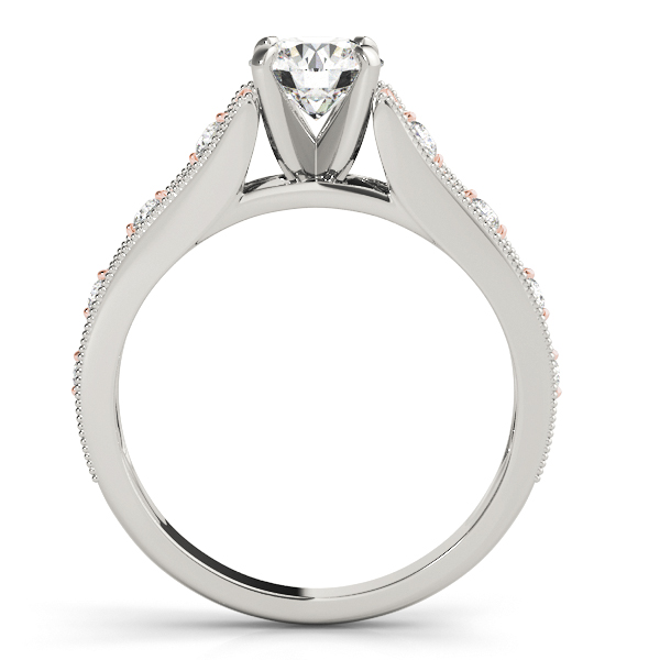 14K White Gold Single Row Prong Engagement Ring Image 2 Atlanta West Jewelry Douglasville, GA