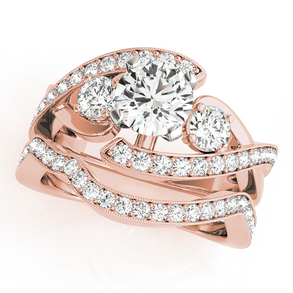 14K Rose Gold Engagement Ring Image 3  ,