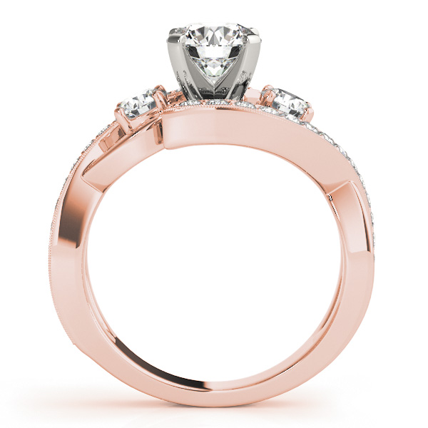 14K Rose Gold Engagement Ring Image 2  ,