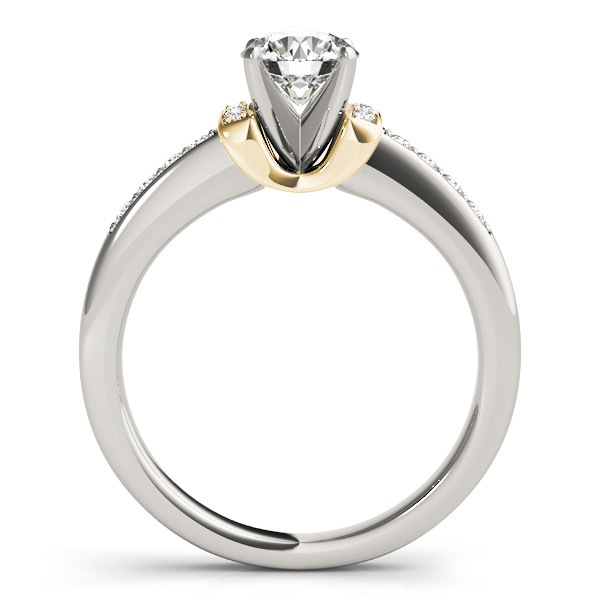 18K Yellow Gold Engagement Ring Image 2  ,