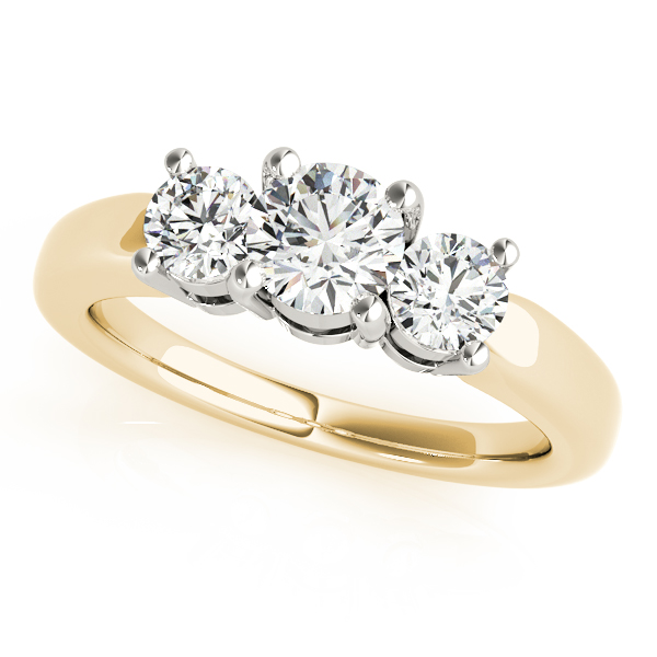 10K Yellow Gold Three-Stone Round Engagement Ring Douglas Diamonds Faribault, MN