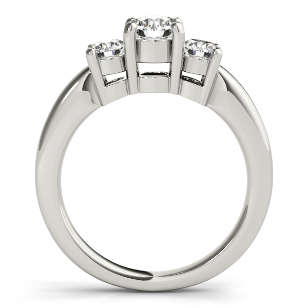 Platinum Three-Stone Round Engagement Ring Image 2 Douglas Diamonds Faribault, MN