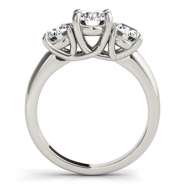 14K White Gold Three-Stone Round Engagement Ring Image 2 Atlanta West Jewelry Douglasville, GA