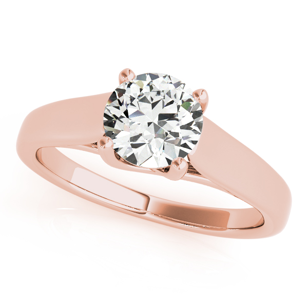 14K Rose Gold Round Solitaire Engagement Ring Douglas Diamonds Faribault, MN