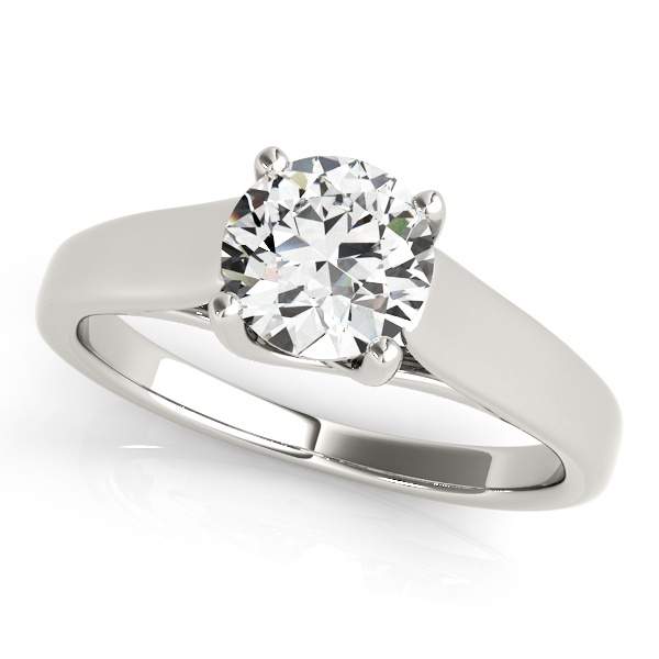 Platinum Round Solitaire Engagement Ring Douglas Diamonds Faribault, MN