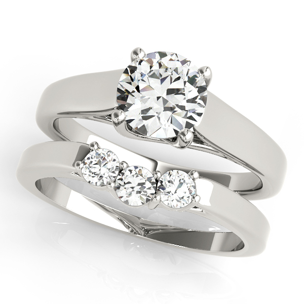 10K White Gold Trellis Engagement Ring Image 3 Douglas Diamonds Faribault, MN