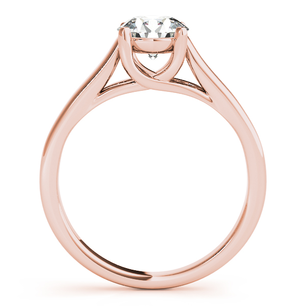 10K Rose Gold Trellis Engagement Ring Image 2  ,