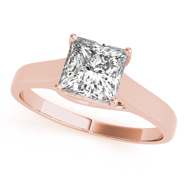 18K Rose Gold Princess Solitaire Engagement Ring Atlanta West Jewelry Douglasville, GA