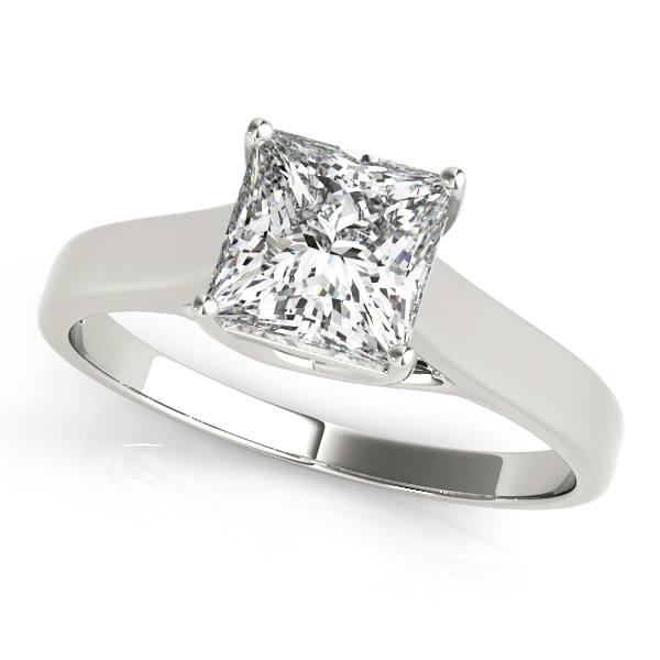 Platinum Princess Solitaire Engagement Ring Atlanta West Jewelry Douglasville, GA