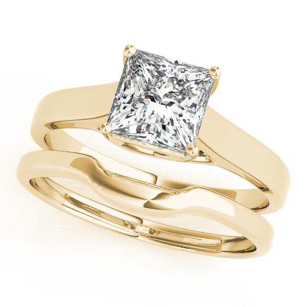 18K Yellow Gold Princess Solitaire Engagement Ring Image 3 Douglas Diamonds Faribault, MN