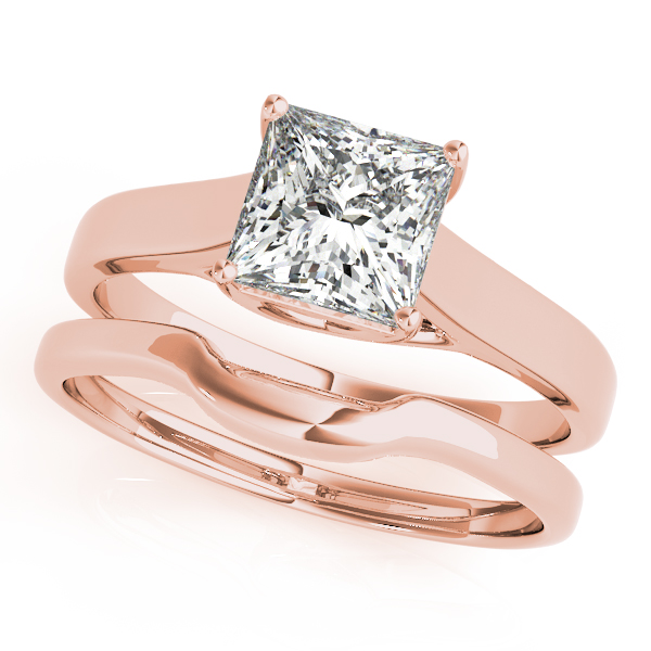 10K Rose Gold Princess Solitaire Engagement Ring  Image 3 Douglas Diamonds Faribault, MN
