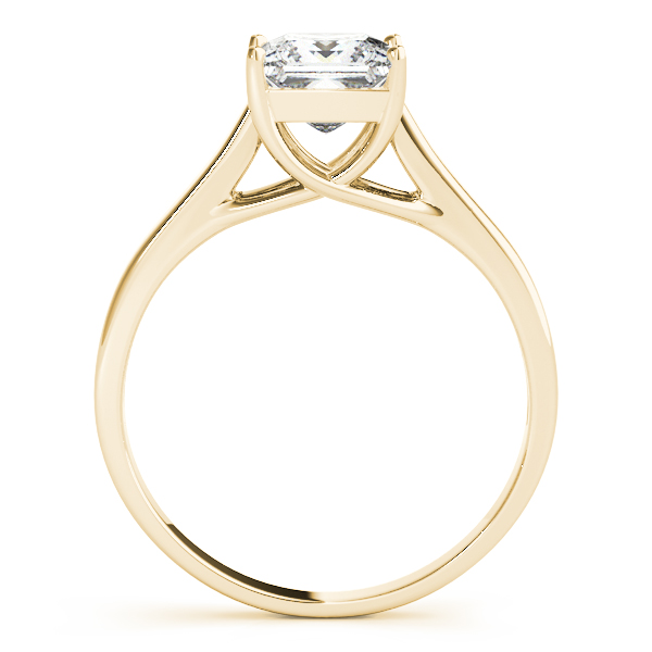 18K Yellow Gold Princess Solitaire Engagement Ring Image 2 Douglas Diamonds Faribault, MN