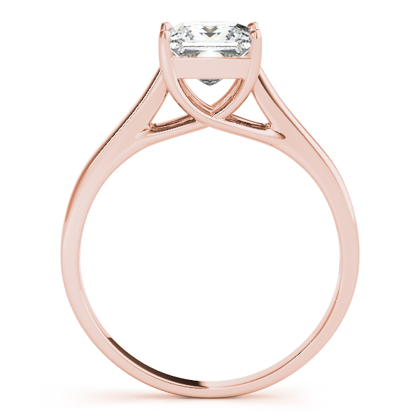 10K Rose Gold Princess Solitaire Engagement Ring  Image 2 Douglas Diamonds Faribault, MN