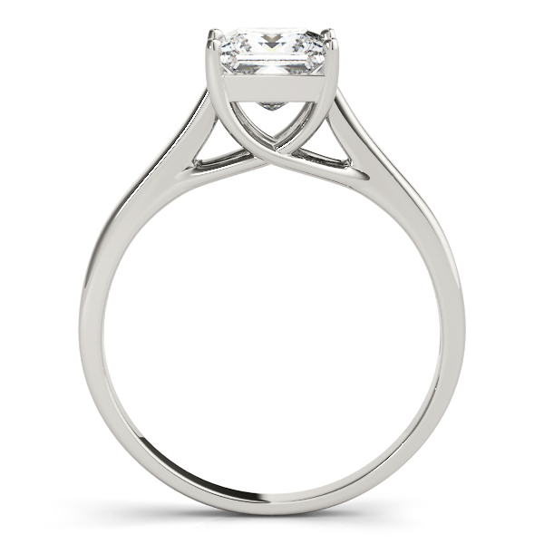 10K White Gold Princess Solitaire Engagement Ring Image 2  ,