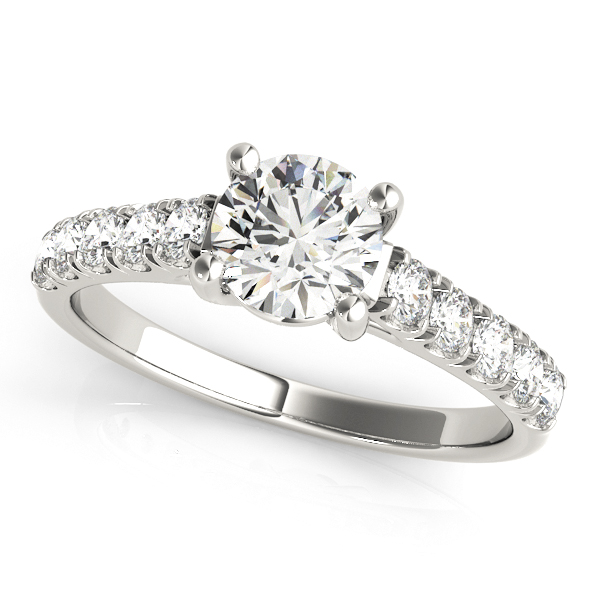 18K White Gold Trellis Engagement Ring Atlanta West Jewelry Douglasville, GA