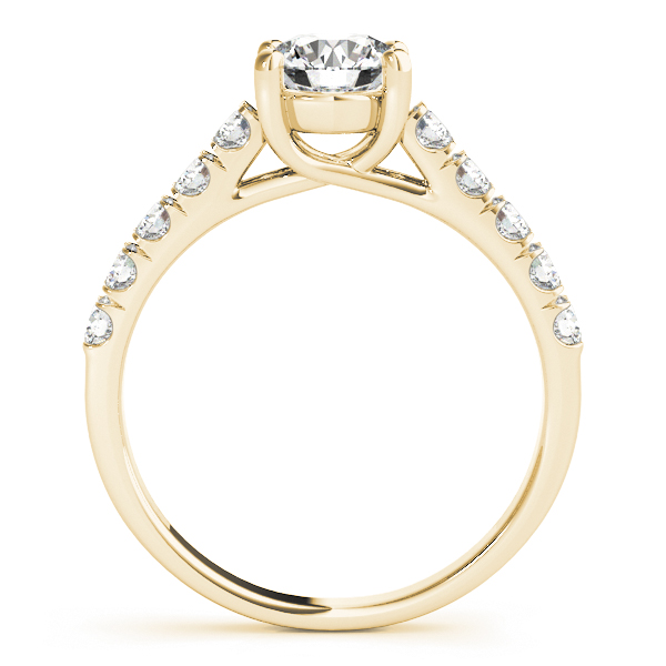 14K Yellow Gold Trellis Engagement Ring Image 2  ,