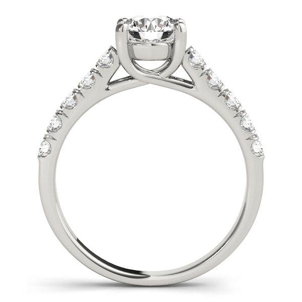 14K White Gold Trellis Engagement Ring Image 2  ,