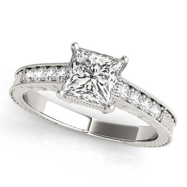Platinum Antique Engagement Ring Douglas Diamonds Faribault, MN
