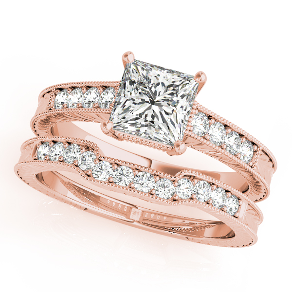 10K Rose Gold Antique Engagement Ring Image 3 Douglas Diamonds Faribault, MN