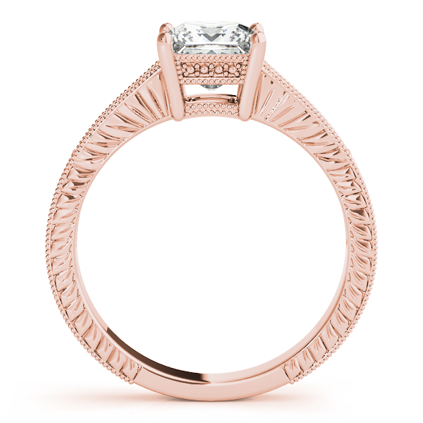 10K Rose Gold Antique Engagement Ring Image 2 Douglas Diamonds Faribault, MN