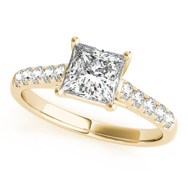 18K Yellow Gold Trellis Engagement Ring Douglas Diamonds Faribault, MN