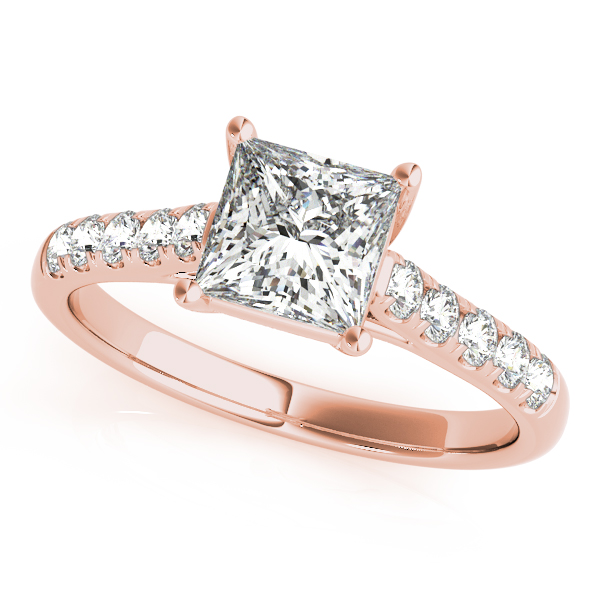10K Rose Gold Trellis Engagement Ring Douglas Diamonds Faribault, MN