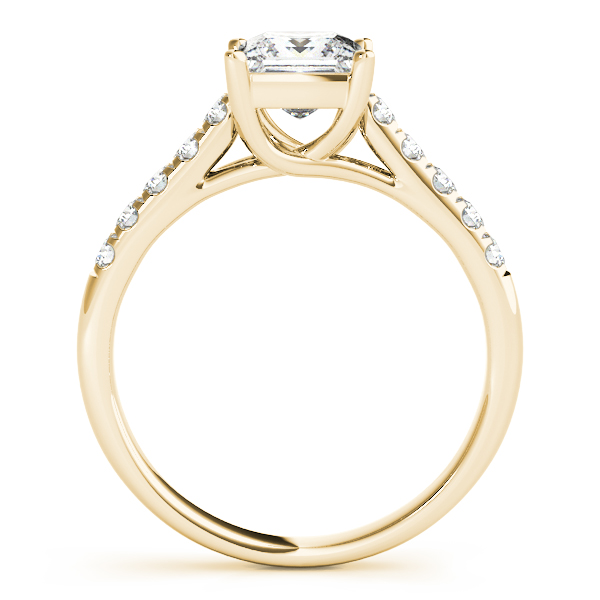 10K Yellow Gold Trellis Engagement Ring Image 2  ,