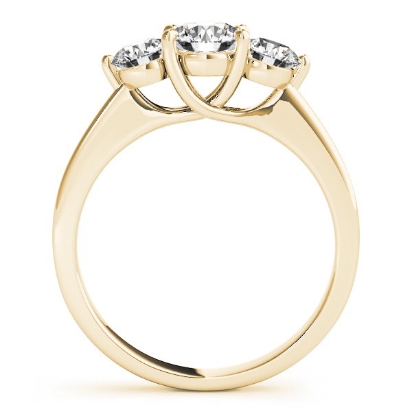 14K Yellow Gold Three-Stone Round Engagement Ring Image 2 Douglas Diamonds Faribault, MN