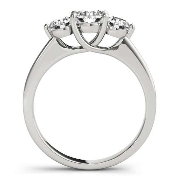 14K White Gold Three-Stone Round Engagement Ring Image 2 Douglas Diamonds Faribault, MN