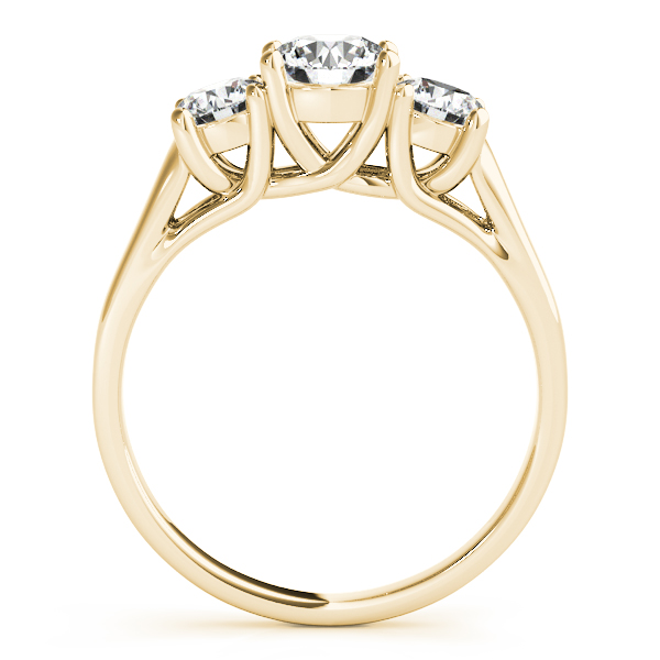 14K Yellow Gold Three-Stone Round Engagement Ring Image 2 Atlanta West Jewelry Douglasville, GA