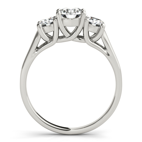 Platinum Three-Stone Round Engagement Ring Image 2 Atlanta West Jewelry Douglasville, GA