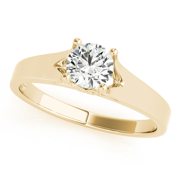 18K Yellow Gold Round Solitaire Engagement Ring Douglas Diamonds Faribault, MN