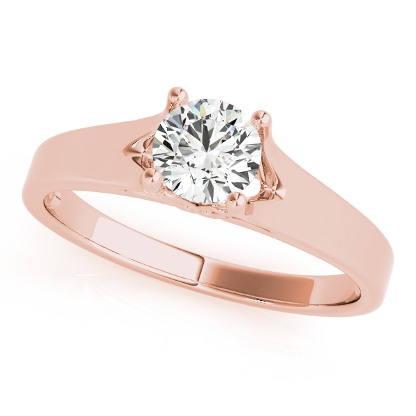 10K Rose Gold Round Solitaire Engagement Ring Douglas Diamonds Faribault, MN
