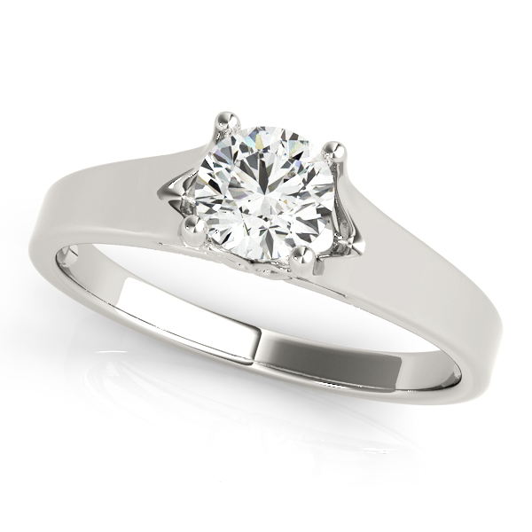 18K White Gold Round Solitaire Engagement Ring Atlanta West Jewelry Douglasville, GA